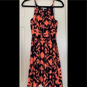 Ikat pattern summer dress